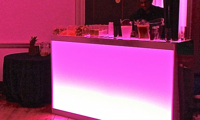 1.5m Perspex Illuminated Folding Bar