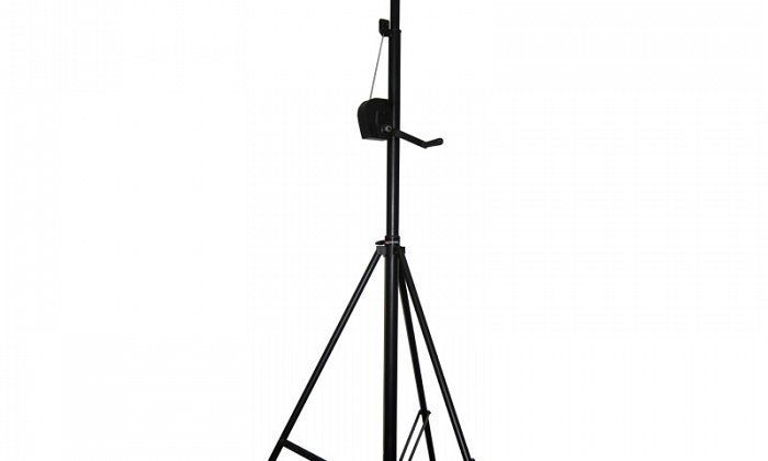 Wind-up 4-way Lighting Stand (3.5m Black)