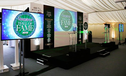 Motorsport Hall of Fame - Screens, Staging, Set with custom graphics and rear projection