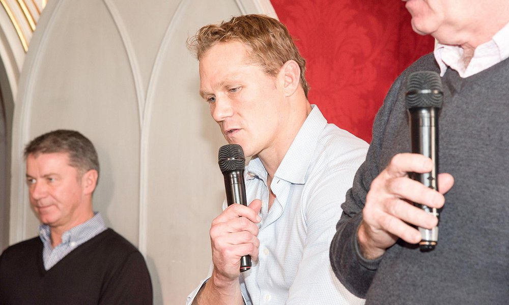 RWC panel with England's world cup winner Josh Lewsey