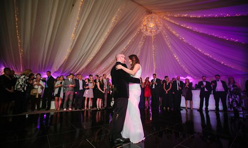 Light up the room for your first dance