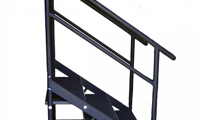 60cm Stage Stairs with Hand Rail