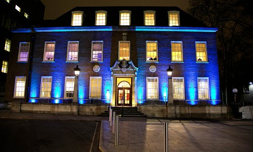 External lighting of Foundling Museum at night