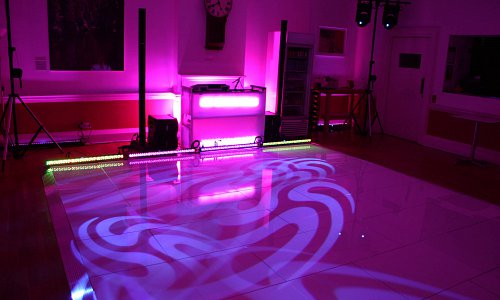 Party time for our dance floor, DJ and lighting