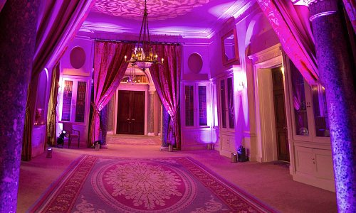 Fountain Room in Purple