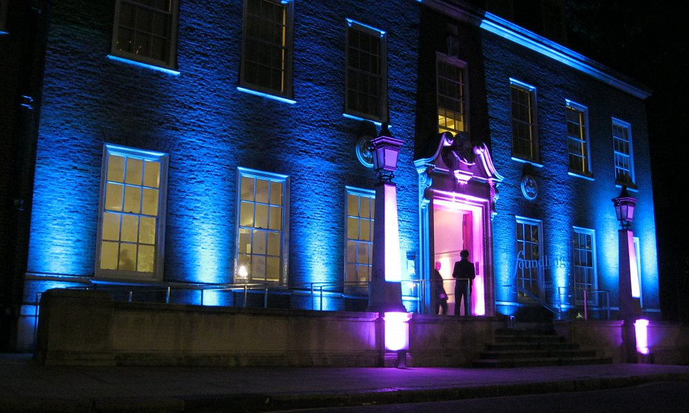 Exterior of Foundling Museum lit at night