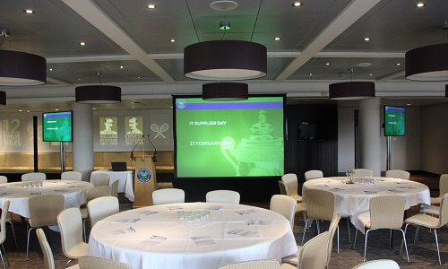 Main and relay screens combine perfectly in AV Systems for a wide selection of events