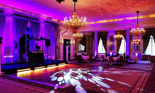 Dance Floor and Room Lighting with Pattern Wash