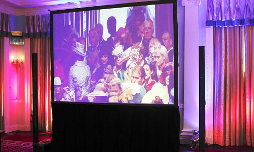 Rear Projection screens for every occasion, including a Royal Wedding