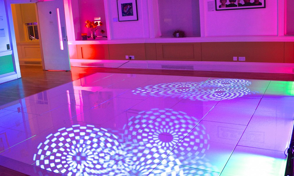 Dance floor illuminated